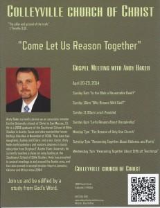 Gospel Meeting 2014 Flyer